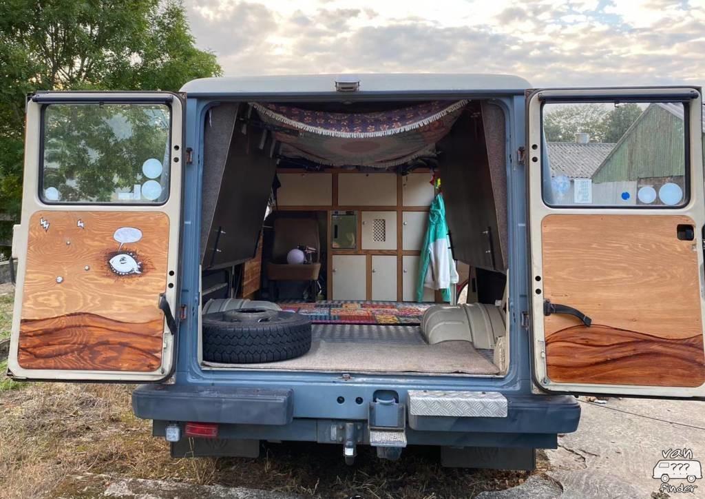 Eileens Bett im VW LT