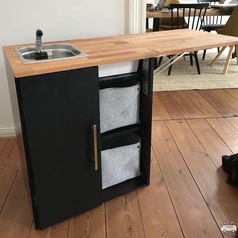 Selbst gebauter Küchenblock