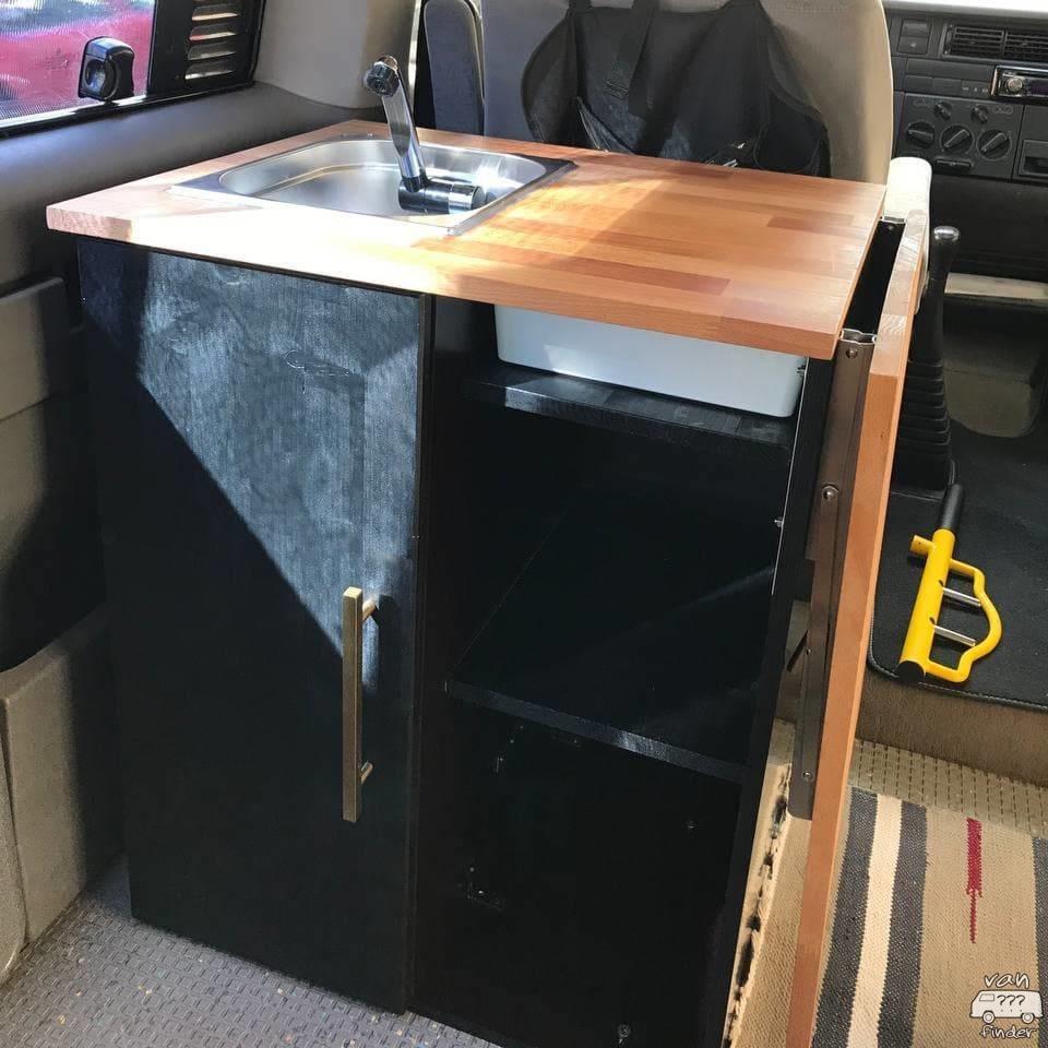 Küchenblock in einem VW T4